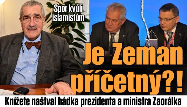 Schwarzenberg o sporu Zemana s ministrem