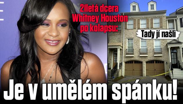 Dcera Whitney Houston je v umělém spánku