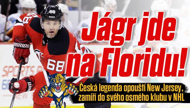 Jaromír Jágr bude bojovat v dresu Floridy