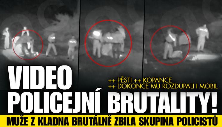 Video: Muže zbila skupina policistů