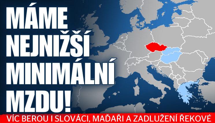 Češi mají nejnižší minimální mzdu ve střední Evropě