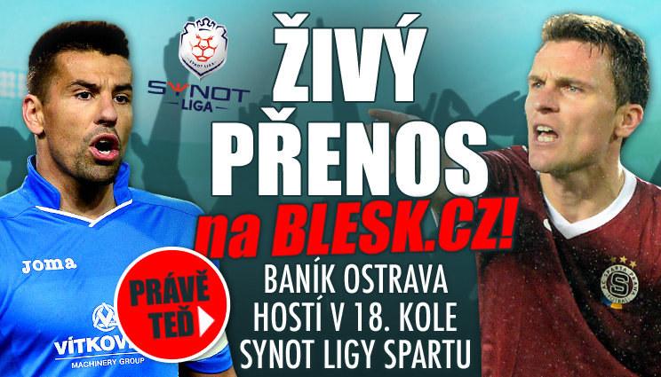 Baník hostí v 18. kole Synot ligy Spartu
