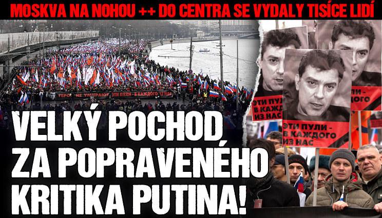 Pochod za zavražděného kritika Putina