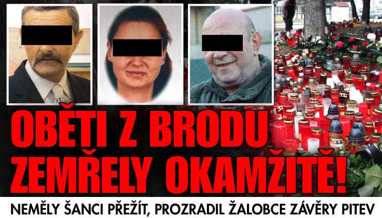 Žalobce: Oběti z Brodu zemřely skoro okamžitě