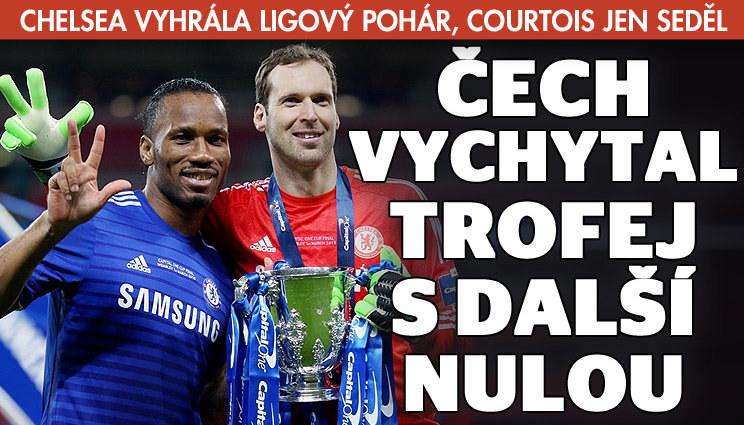 Petr Čech slaví s Chelsea další velký úspěch
