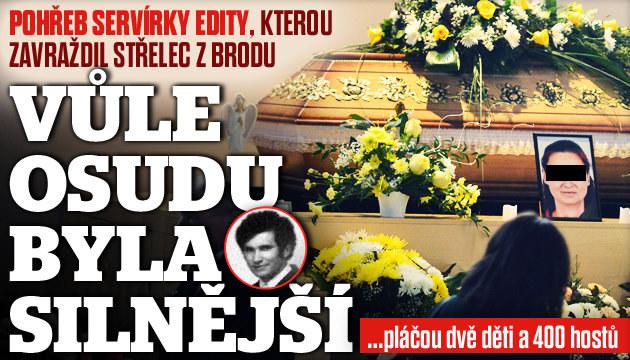 Pohřeb servírky z Brodu: Zůstaly po ní dvě děti