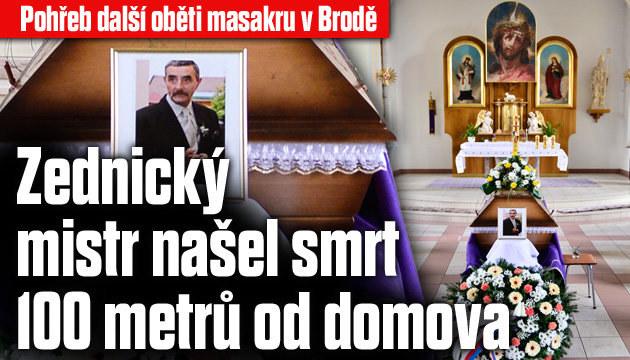 Pohřeb další oběti masakru v Brodě
