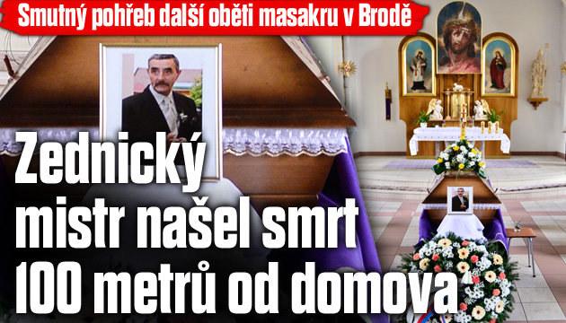 Smutný pohřeb další oběti masakru v Brodě