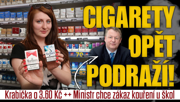 Zdražení cigaret: 3,60 Kč na krabičku!