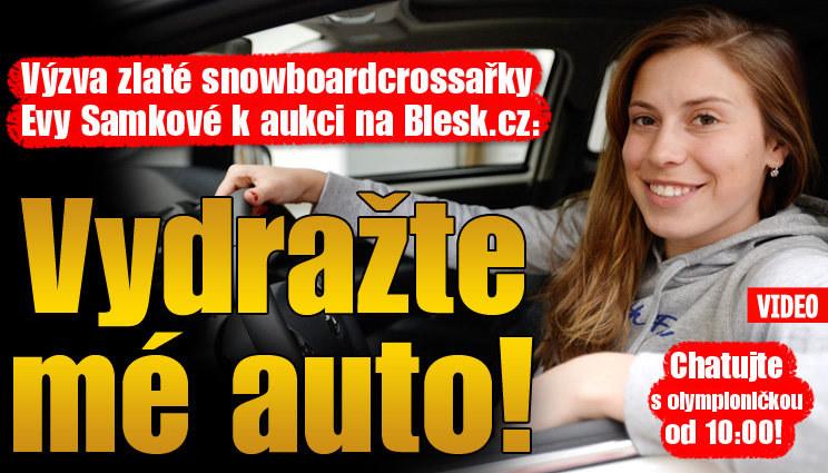 Samková slibuje, že auto do aukce uklidila
