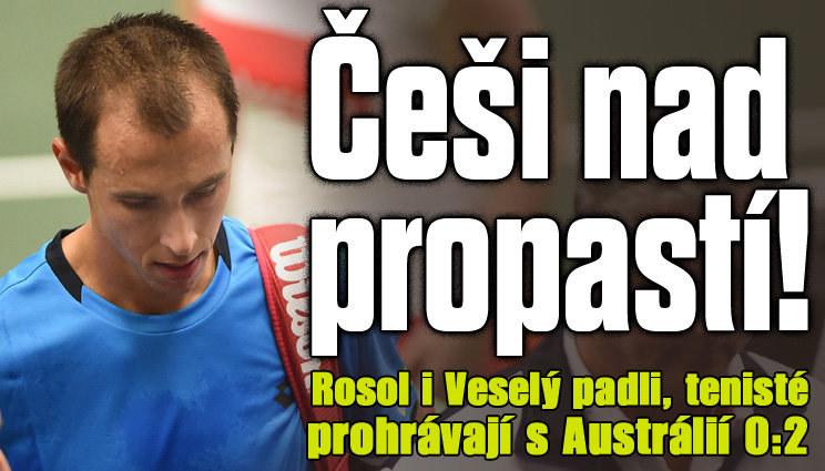 Čeští tenisté prohrávají s Austrálií 0:2