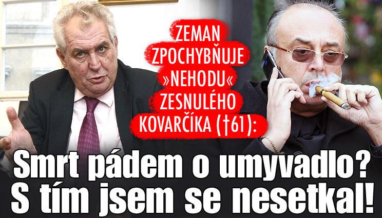 Miloš Zeman o smrti Petera Kovarčíka