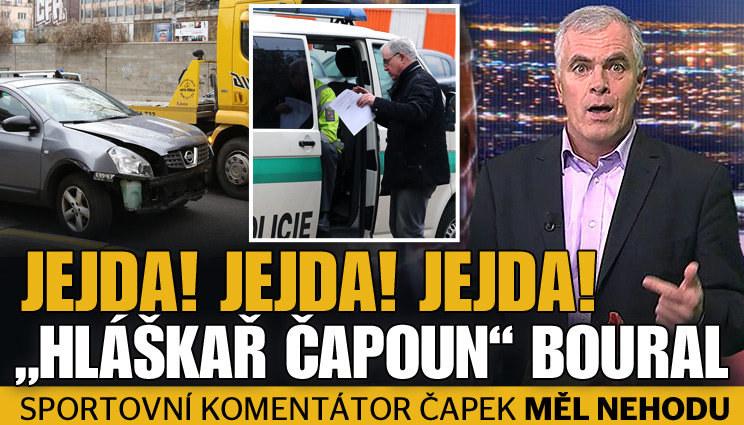 Hláškař Čapek měl s autem bouračku