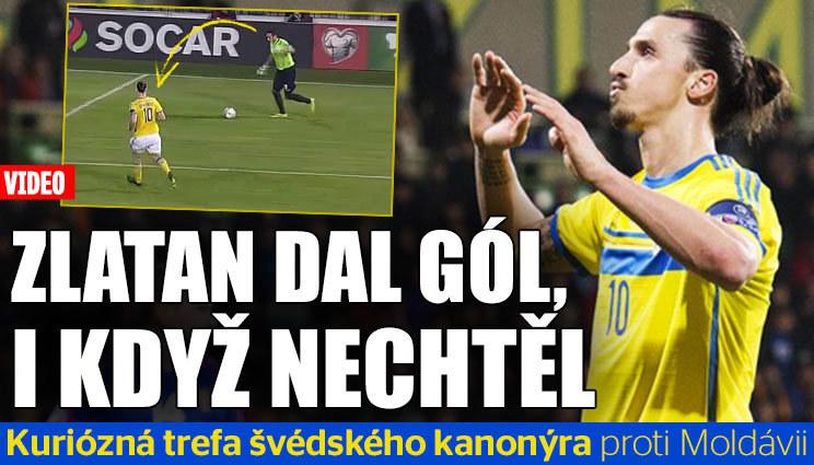 Zlatan dal gól, i  když nechtěl!