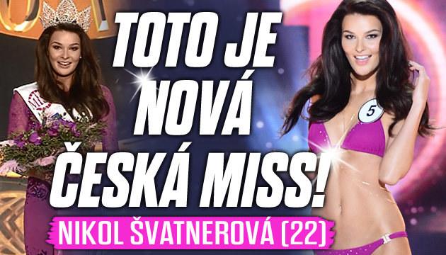 Českou Miss 2015 se stala Nikol Švatnerová