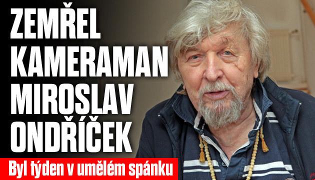 Zemřel kameraman Miroslav Ondříček