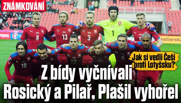 Kdo z Čechů proti Lotyšsku obstál a kdo vyhořel?