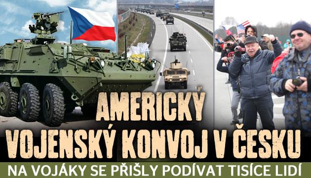 Americký vojenský konvoj v Česku