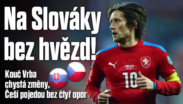 Češi jedou na Slovensko bez 4 hvězd!