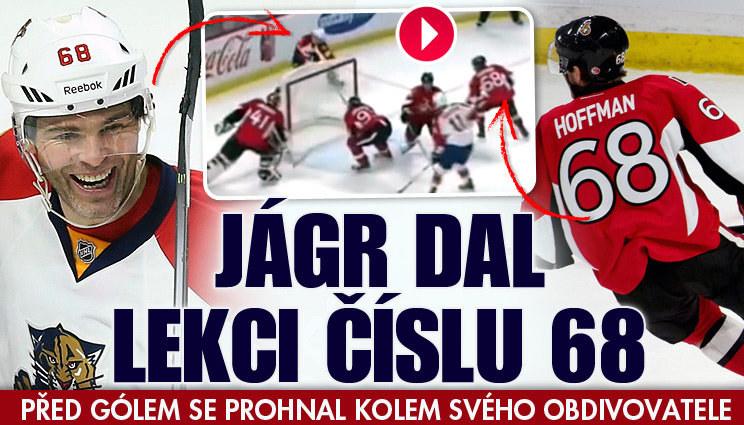 Jágr dal v NHL lekci hráči, který nosí jeho číslo