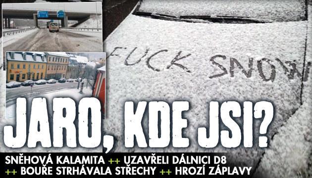 Sněhová kalamita: Komplikace na řadě míst Česka