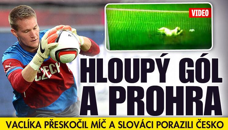 Češi dostali na Slovensku hloupý gól a prohráli 0:1