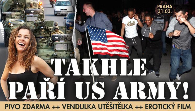 Poslední mejdan amerického konvoje v Praze