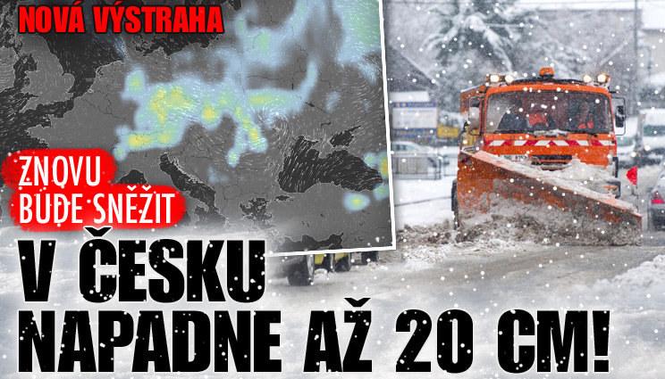 Nová výstraha: V Česku napadne až 20 cm!