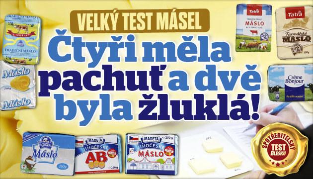 Senzorický test másel: Které vyhrálo?