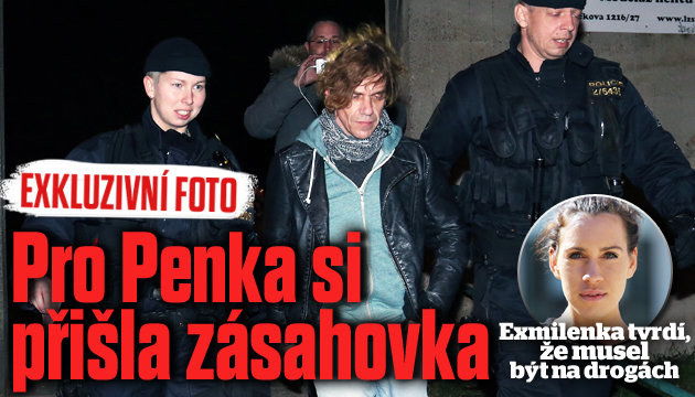 Takhle si policie došla pro Michala Penka!