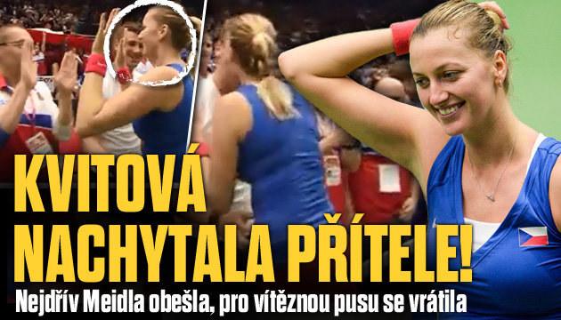 FOTO: Meidl natahoval ruce, ale Kvitová šla dál