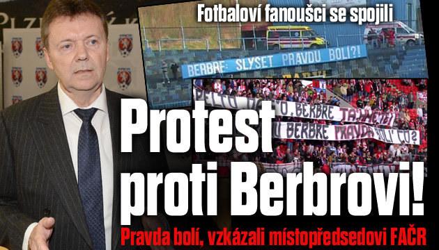 Fotbaloví fanoušci se spojili proti Berbrovi