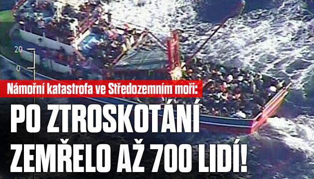 Námořní katastrofa: Utopilo se až 700 lidí