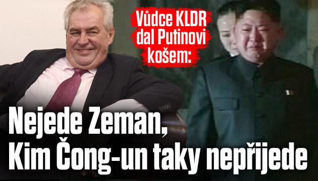 Vůdce KLDR dal Putinovi s přehlídkou košem
