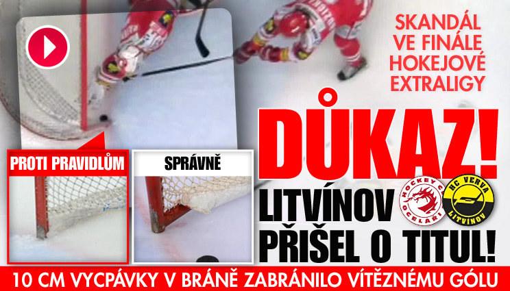 Litvínov přišel o gól, chyba byla na straně Třince