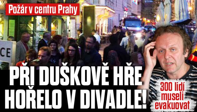 Při Duškově hře hořelo divadlo: 300 lidí evakuovali
