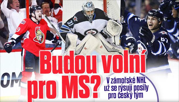 V play off NHL už se rýsují možné posily pro MS