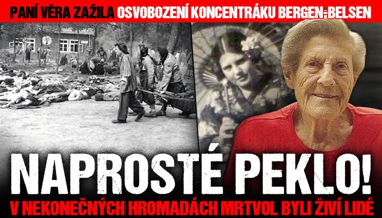 Paní Věra zažila osvobození koncentráku Belsen