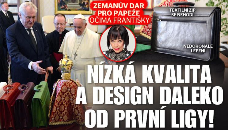 Aktovky pro papeže očima Františky