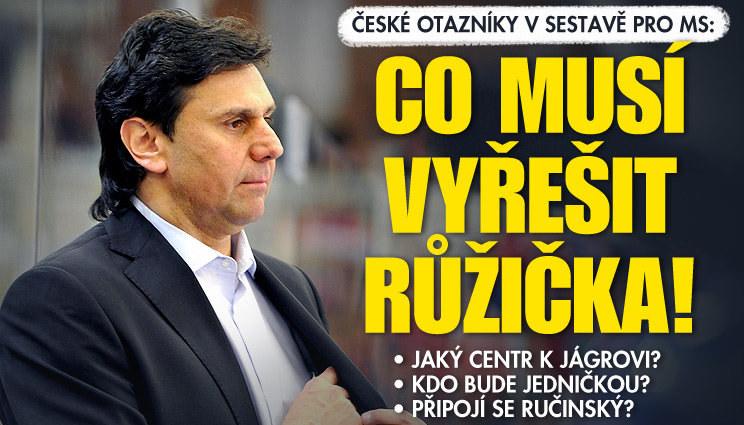 Jaké otazníky v české sestavě musí vyřešit Růžička?