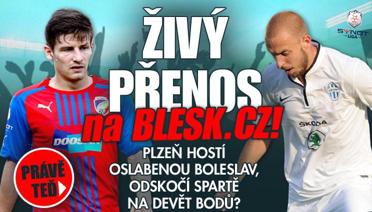 Plzeň hostí Boleslav, sledujte přímý přenos