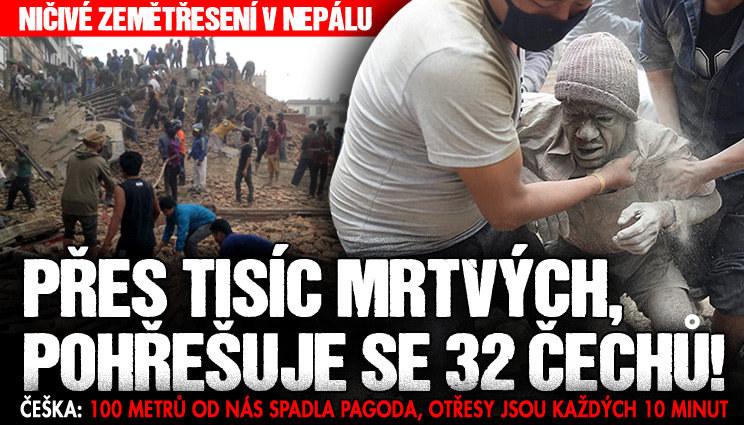 V Nepálu se pohřešuje 32 Čechů