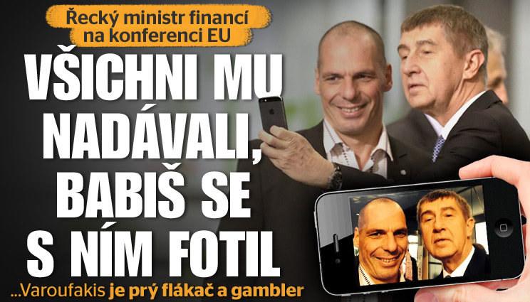 Babišovo selfie s řeckým ministrem