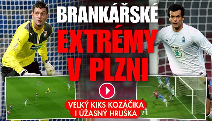 VIDEO: podívejte se na brankářské extrémy v Plzni