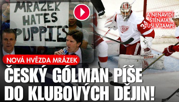 Gólman Petr Mrázek roste v superstar