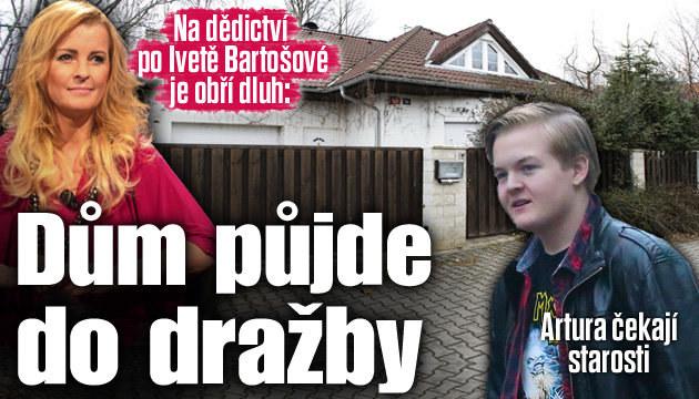 Dům po Bartošové míří do dražby kvůli dluhům