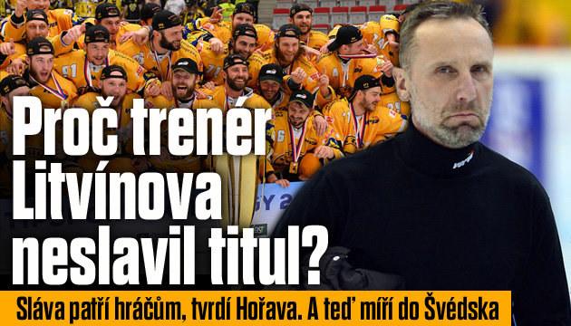 Trenér Litvínova: Proč zůstal při oslavách v kabině