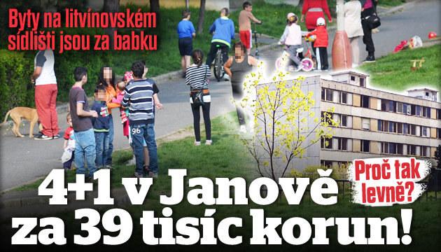 Byt 4+1 v Janově na prodej za 39 tisíc korun!