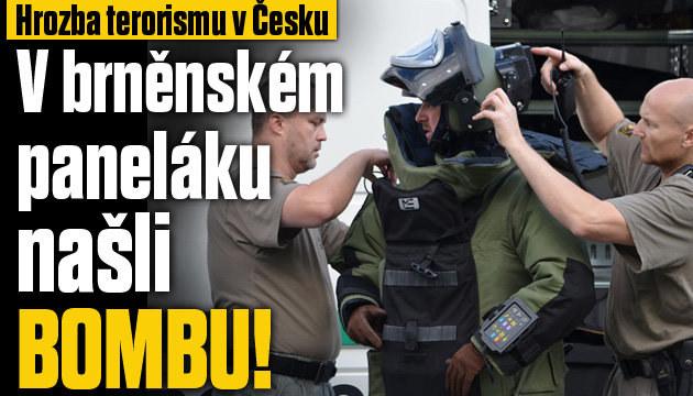 Hrozba terorismu: V Brně našli bombu
