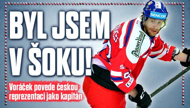 Voráček: Já a kapitán? Byl to šok!